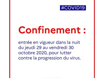 confinement à compter du 29 octobre